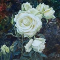 Rosas brancas – 24x32cm